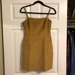 Golden Amber Sleevless mini dress